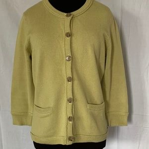 Anne Taylor button down cardigan sweater